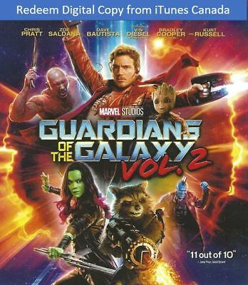 Marvel Guardians of the Galaxy Vol. 2 Digital Code Redeem from iTunes Canada
