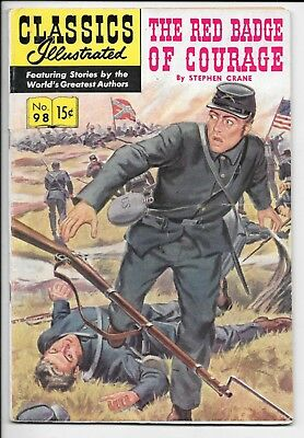 Classics Illustrated #98 Red Badge of Courage Crane HRN 98 VG/FN 1952 Gilberton
