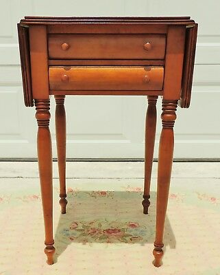 Antique/Vtg Conant Ball Drop Leaf Side End Accent Library Table #4800