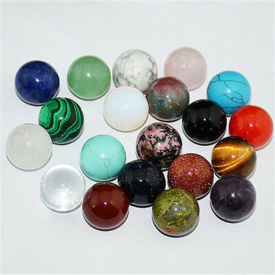 16mm Natural Gemstone Round Ball Quartz Crystal Healing Sphere Rock Stones Decor