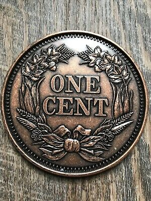 Large Novelty Coin 1856 Wheat Penny