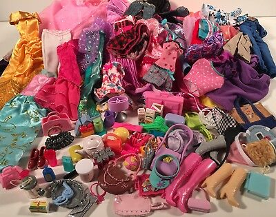 Barbie Doll Clothes & Similar Size HUGE LOT 130+ Pieces! Clothing Dress Shoes