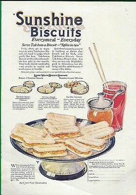 1920 Sunshine Biscuits Ad ~ Tak-Hom-A Biscuit ~ Loose-Wiles Biscuits, K.c., Mo.