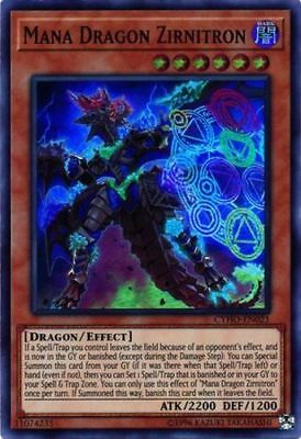 Yugioh! Mana Dragon Zirnitron - CYHO-EN021 - Super Rare - Unlimited Edition Near