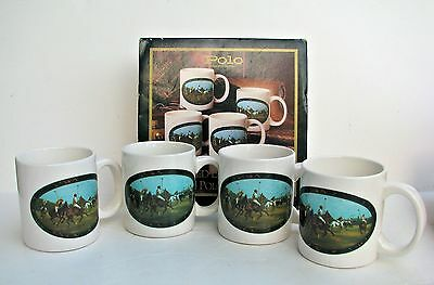 Marked Down! Set of 4 Ralph Lauren Limited Edition Ceramic Polo Mugs NIB