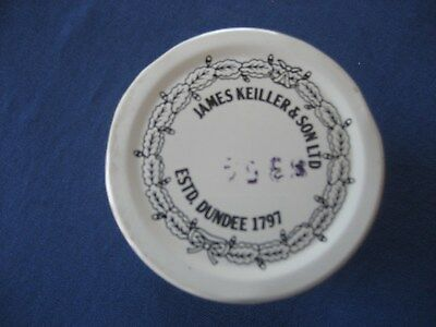 Vintage JAMES KEILLER & SON LTD Milk glass Marnalade Jar With Lid