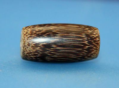 30*16 mm Antique Dzi bamboo old Bead from Tibet **Free shipping**