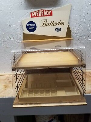 Eveready Batteries Countertop Advertising Display Cabinet