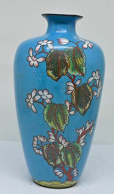 Antique 1800s Japanese / Chinese Cloisonne Vase ~ 6.25 Inches Tall ~