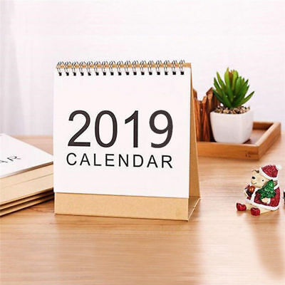 2019 Desk-Top Flip Calendar Month To View Stand Up Office Home Table Planner