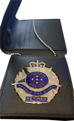 Tri-Fold ID Wallet for Retired Vic Badge - Badge not included