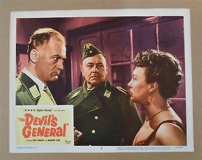 ORIGINAL VINTAGE MOVIE LOBBY CARD POSTER from 1955 WWII FILM THE DEVIL'S GENERAL