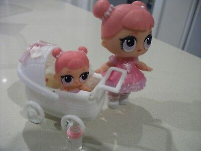 Plastic Doll Pram to suit Lol Lil Sister Sized Dolls with Soft Liner Pad (3)