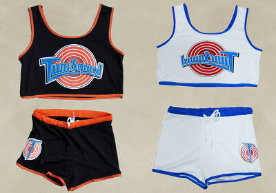 Women Space Jam Tune Squad Ladies Outdoor Sport Jersey & Shorts Stitched