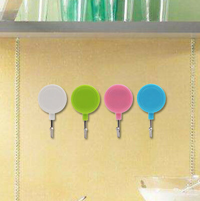 2 Pcs Magnetic Hooks With Stickers Set Powerful Strong for Refrigerator Hanger.