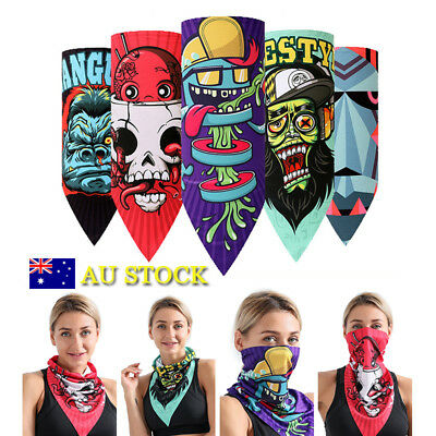 Biker Cycling Bicycle Half Face Mask Neck Warmer Sacrf Bandana Halloween Magic