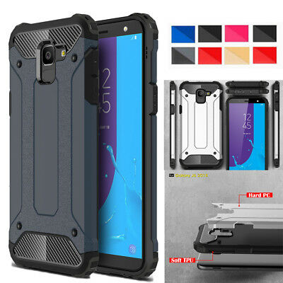 Hybrid Rugged Rubber Heavy Duty Shockproof Armor Case Cover For Samsung J3 J5 J7