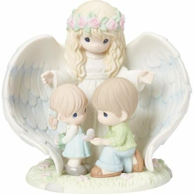 Precious Moments Limited Edition Guardian Angel With Children Figurine