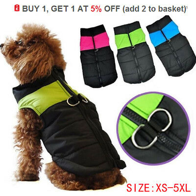 Waterproof Pet Dog Clothes Autumn Winted Coat Thick Winter Puffer Clothes Jacket