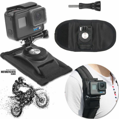 Riding Backpack Mount Bracket Holder For GoPro Hero 4 5 6 Accessory Camera LJ