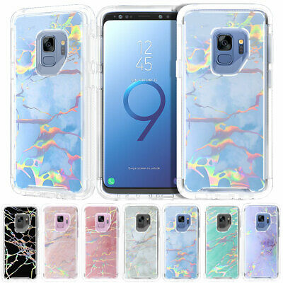 Marble Shockproof Hybrid Rubber Bumper Case For Samsung Galaxy S9 / S9+ Plus