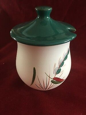 Denby Greenwheat lidded preserve pot in excellent condition