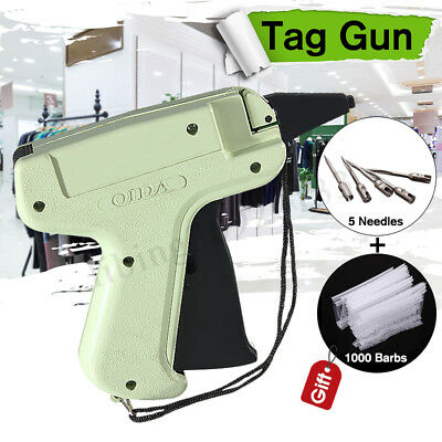 Tagging Tag Gun Machine +Tag Barbs + 5 Needles For Garment Price Label Clothes