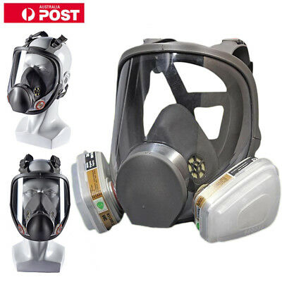 3M 6000 Series Full Face Vapor Dust Mask Respirator - 6800 Spray Paint New