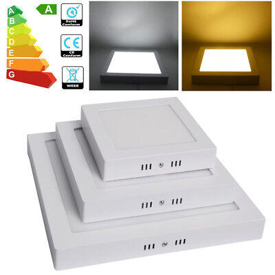 2/4x 12W 18W 24W LED Surface Mounted Ceiling Panel Light Day / Warm White Light