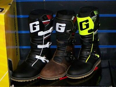 Gaerne Classic Balance Trials Boot Black Fluo Camo yellow Brown Oiled Gore-Tex