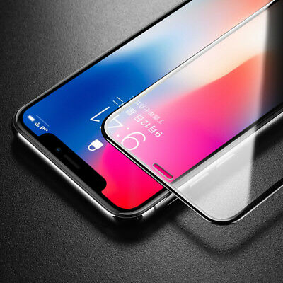 For iPhone XS Max XR 5D Curved Screen Protector Full Cover Tempered Glass Film