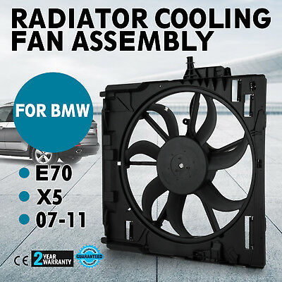 Set Engine Radiator Cooling Motor Fan Assembly for BMW E70 X5 2007-2010 Look