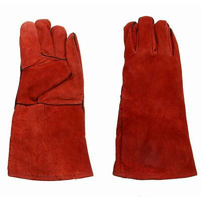 Welding Worker Leather Gloves Heat Resistant Safety Work Gloves Hand Protection#