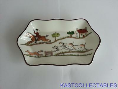Crown Staffordshire Hunting Trinket Tray - Free UK Delivery