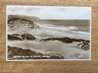 Real Photograph Postcard - Beach And Mull  Of Kintyre, Westport.