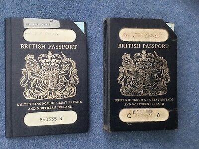 3 x  British Passports To Same Holder  And driving licence  Used