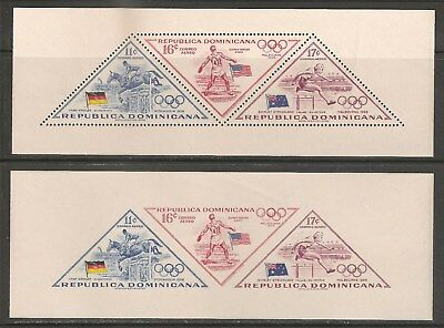 Dominican Republic #C103-C105 VF MNH 1957 11c to 17c 56' Olympic Winners & Flags