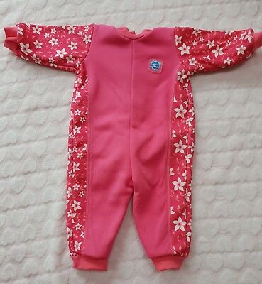 Splash About Warm in One Baby Girls Pink Wetsuit Small (0-3 months)