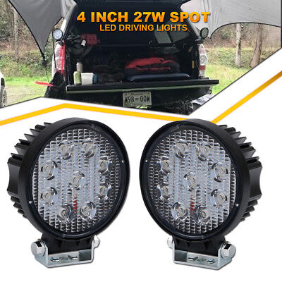 2pcs 4inch CREE Round LED Work Lights Offroad Spot Fog Yamaha ATV Driving Lights