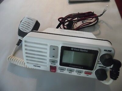 West Marine VHF580 580 VHF Radio Transceiver w/ Mic - Tested - Great Condition