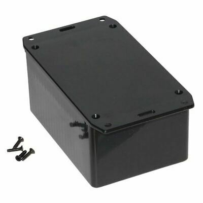 Hammond 1591TSFLBK Multipurpose GPABS Enclosure Flanged Lid 120 x 80 x 59 Black