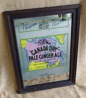 Vintage Canada Dry Ginger Ale Mirror Pale Ginger The Champagne Of Ginger Ale's