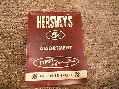 Vintage Hershey's Candy Bar Box 5 Cent First in Favor and Flavor Advertising