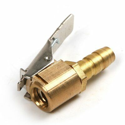 Auto Truck Tyre Tire Inflator Clamp Clip Valve Connector Air Chuck 6MM Brass