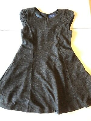 NWOT Polo Ralph Lauren Girl's Size 5 Dress 100% wool Lined Cap Sleeve Holiday