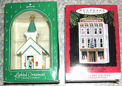 "Hallmark Lighted Ornament ""village Church"" 1984 & 20 Year Anniversary Edition"