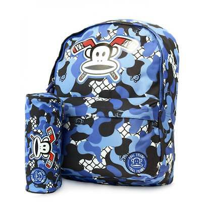 ee55f8e346 PAUL FRANK JULIUS Monkey Camouflage Backpack and Pencil Case Set - Navy  PFBB8556 - EUR 29