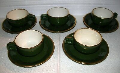 5 tasses APILCO (?) anciennes bistrot , brasserie vintage french cups