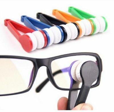 Eyeglasses Lens Brush Wipers Microfibre Cleaner Spectacles Glasses Cleaning Tool