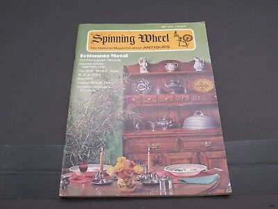 May 1973 SPINNING WHEEL Antiques Magazine : Gillam Cabinets, Hatchets ++